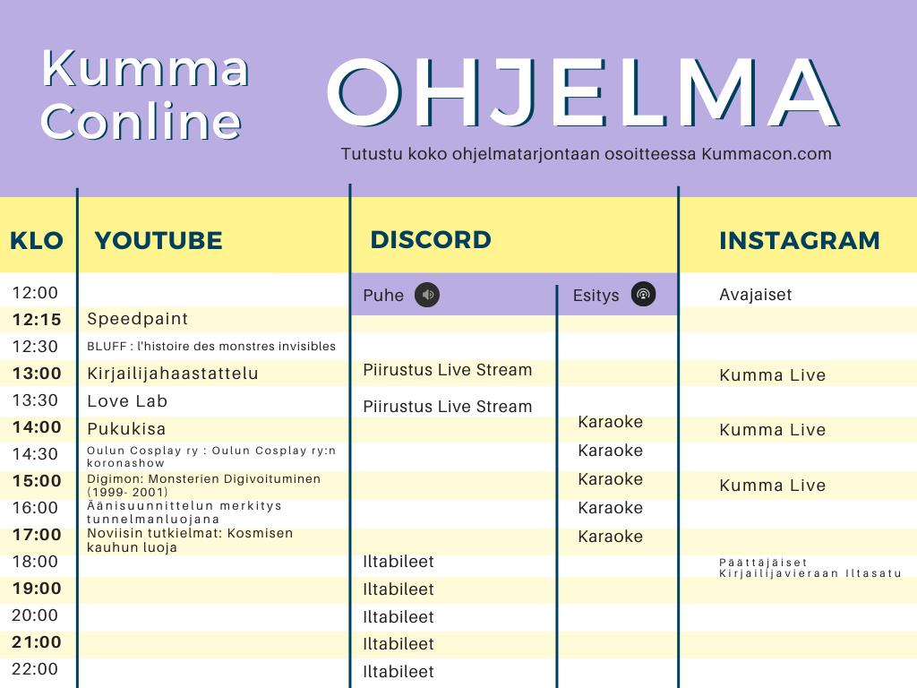 KummaConline Ohjelma(2)
